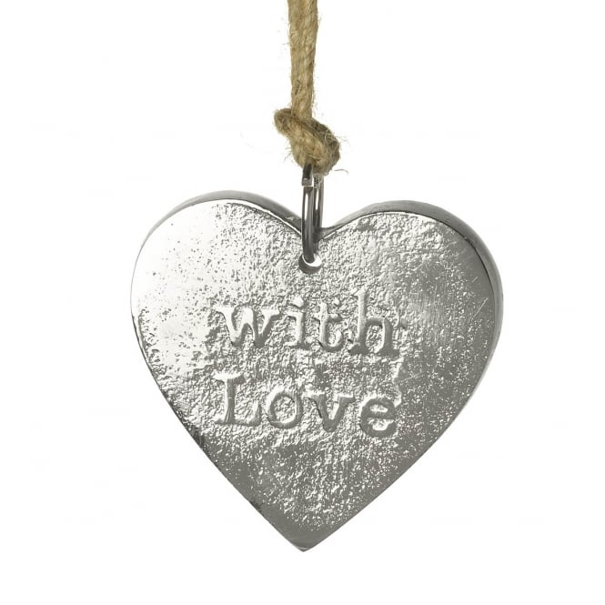 PARLANE SILVER HANGING HEART (WITH LOVE)