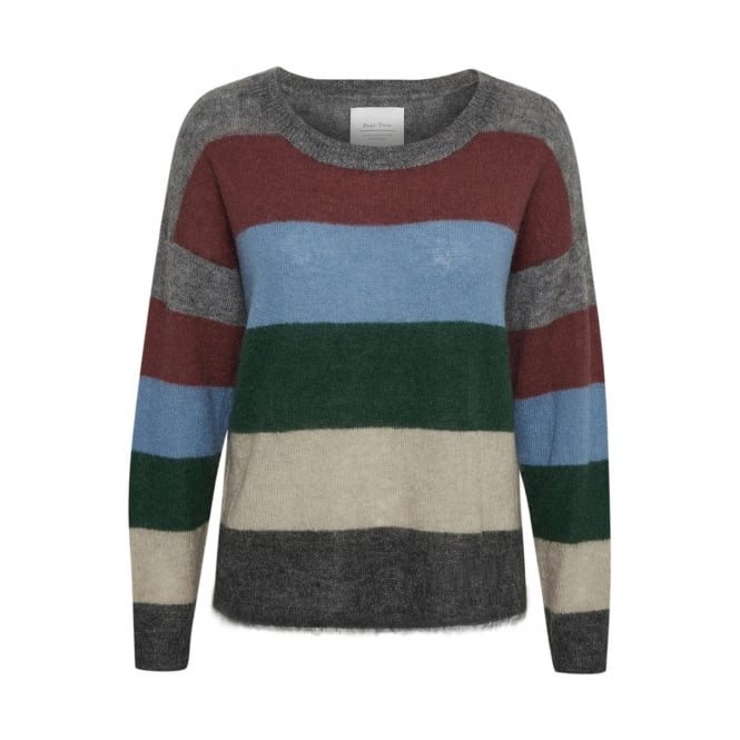 PART TWO Ibby PU multi colour jumper