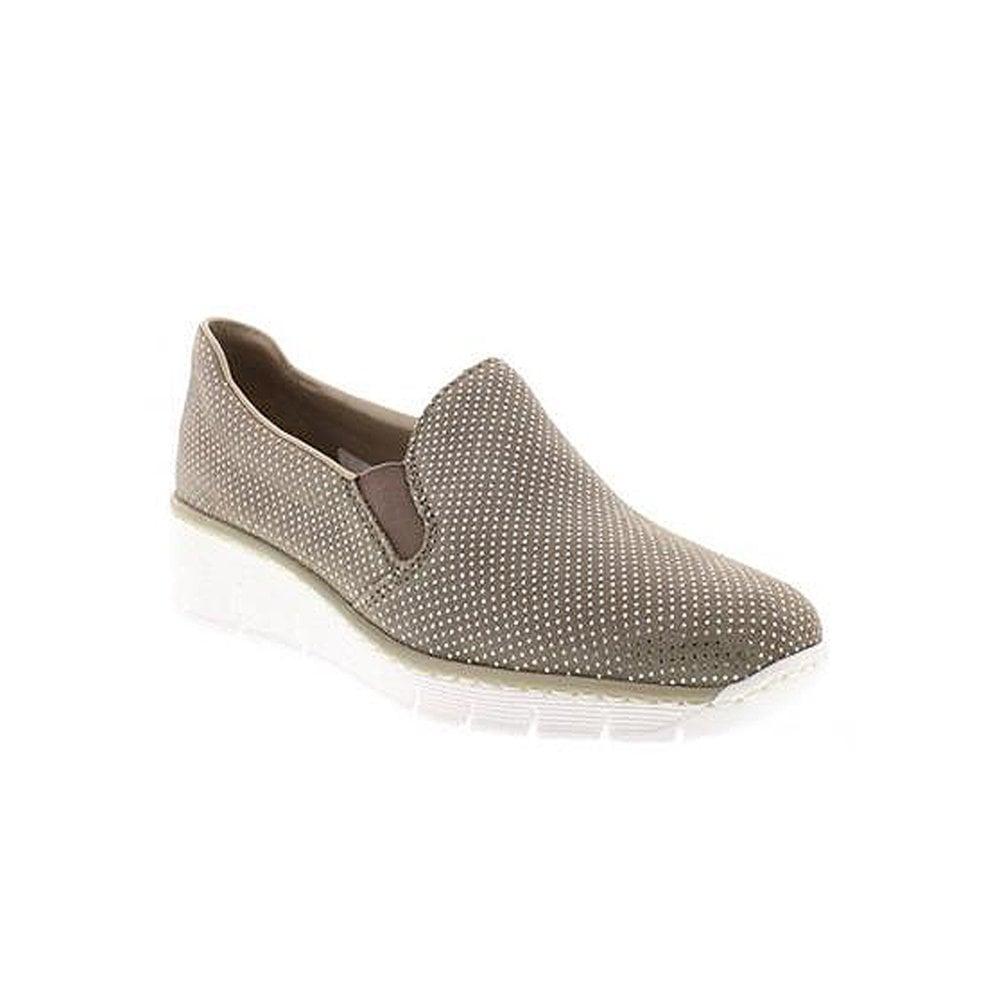 Rieker Pettits Pettits Shoe Taupe Pettits Rieker 53766 Taupe Shoe 53766 Rieker Shoe CxBdoe