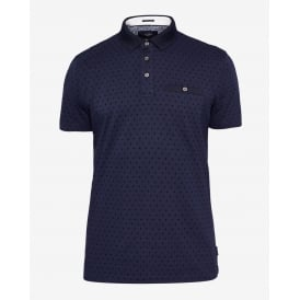 PLATTS short sleeve all over flock spot polo t-shirt