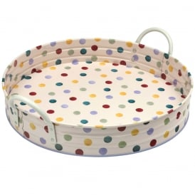Polka Dot Large Handle Tray