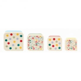 Polka Dot Set of 4 snack tubs