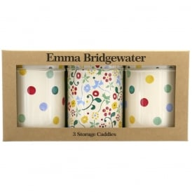 Polka Floral Set 3 caddies
