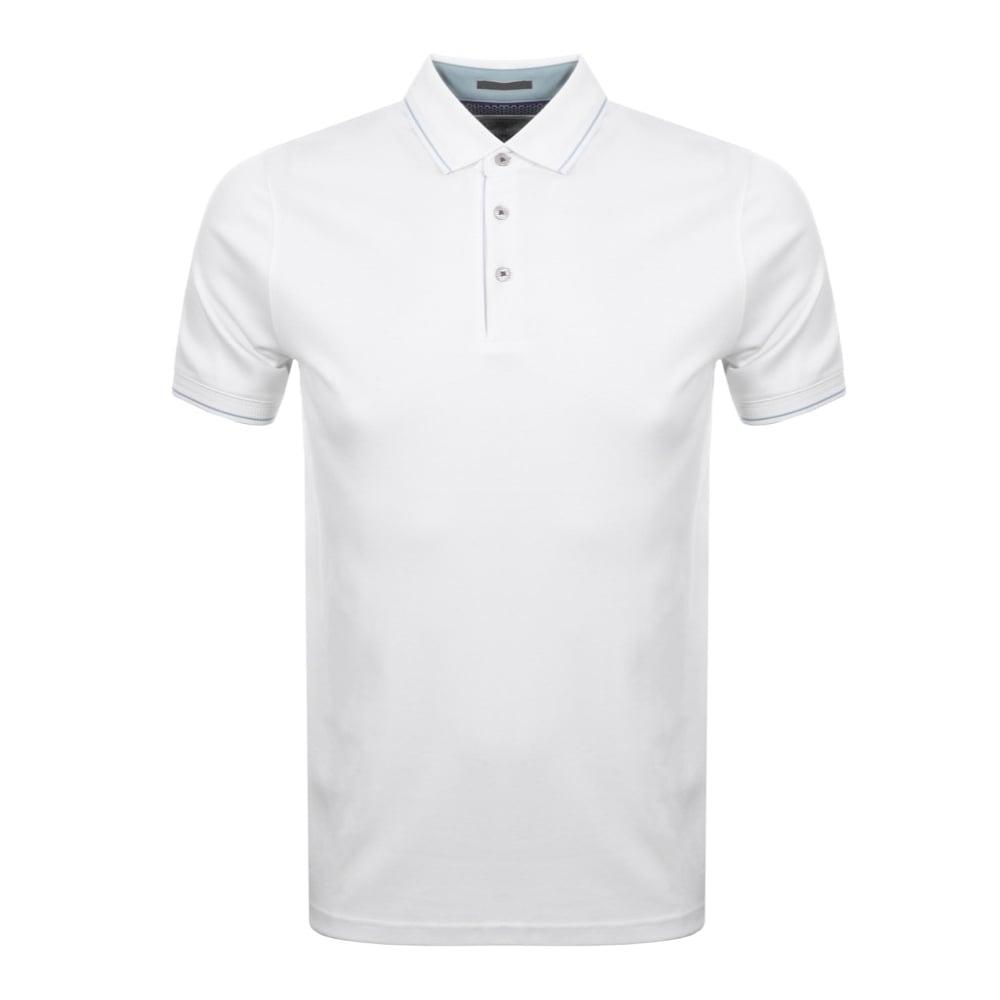 c7c59a6a2 TED BAKER PUG short sleeve stripe detail polo shirt White - Mens ...