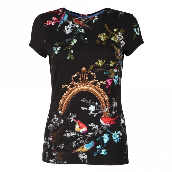 TED BAKER RAYNEE-Opulent fauna fitted tee