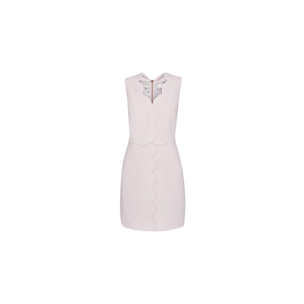 ted baker rubeyed scallop edge shift dress pink ladies from