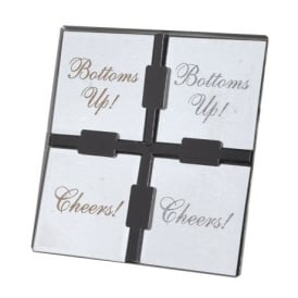 S/4 SQ.MIRROR COASTERS