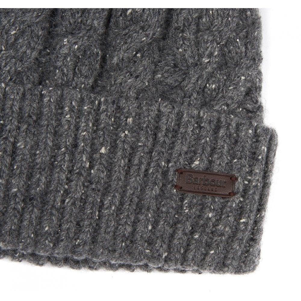 04540d7d4a5 BARBOUR Seaton Pom Beanie Hat Grey - Mens from Sandersons Boutique UK