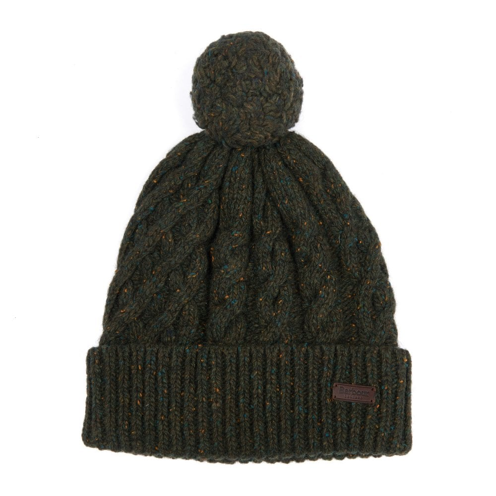 8be7d23a567 BARBOUR Seaton Pom Beanie Hat Olive - Mens from Sandersons Boutique UK