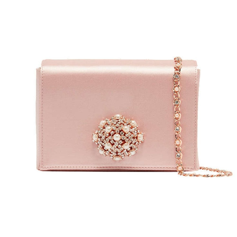 38ad49db275 TED BAKER SELINAA brooch detail satin evening bag - Ladies from ...