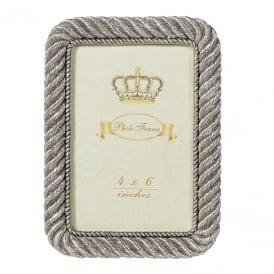SILVER ROPE EDGE PHOTOFRAME