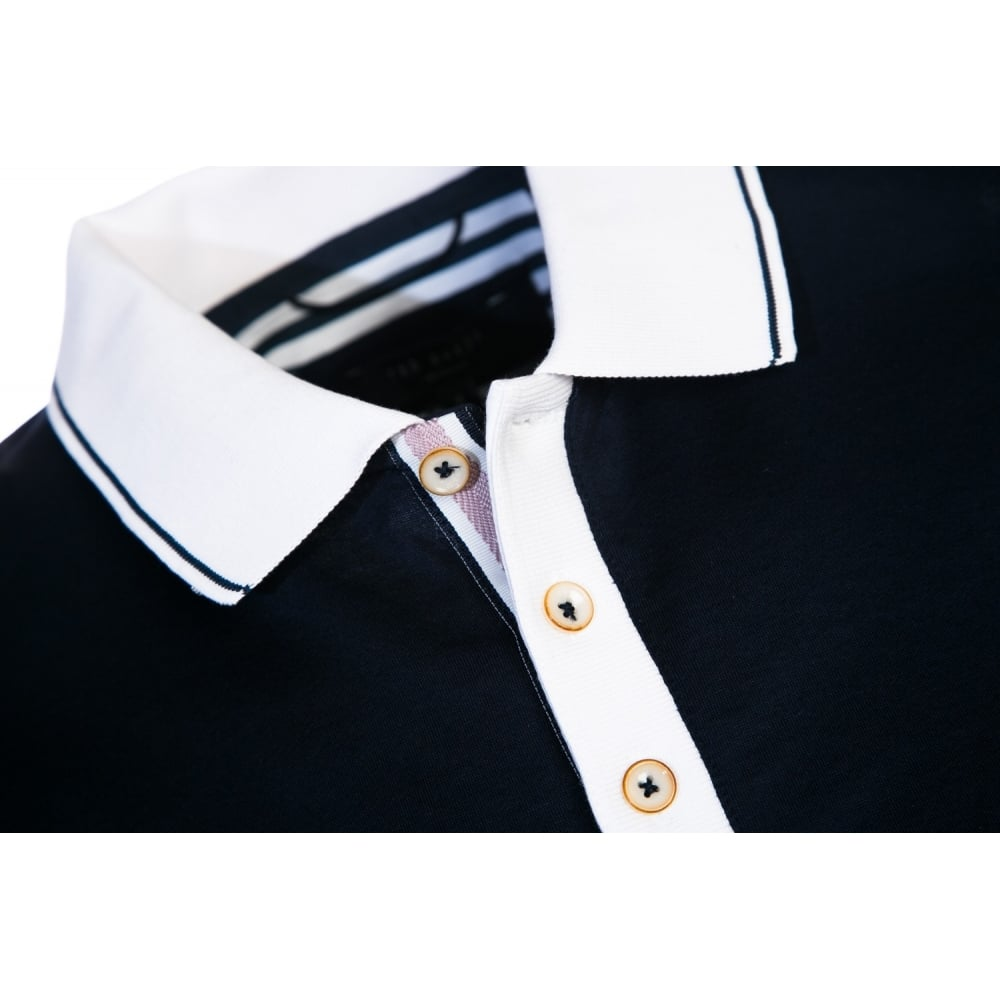 ee4f7c1be3ccd1 TED BAKER STAFFY short sleeve contrast collar polo shirt - Mens from ...