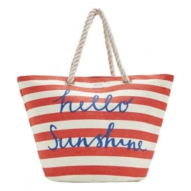 SUMMERBAG beach bag red stripe