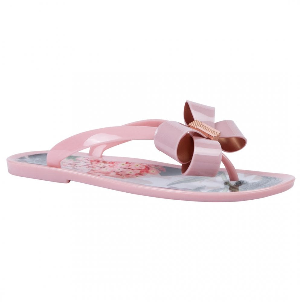 79791d5bc225b0 TED BAKER SUSZIE bow detail jelly flip flops palace gardens - Ladies ...