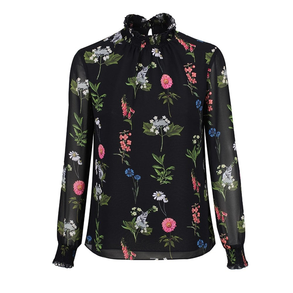 7c6db30afbbe4 TAALIA florence sheared blouse