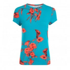 d062f2a72 Ted Baker DILLIA Fantasia Fitted Tee Turquoise