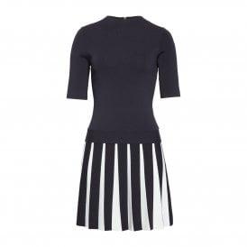 42c943df9 Ted Baker HETHIA Pleated Skirt Knitted Flippy Dress Navy