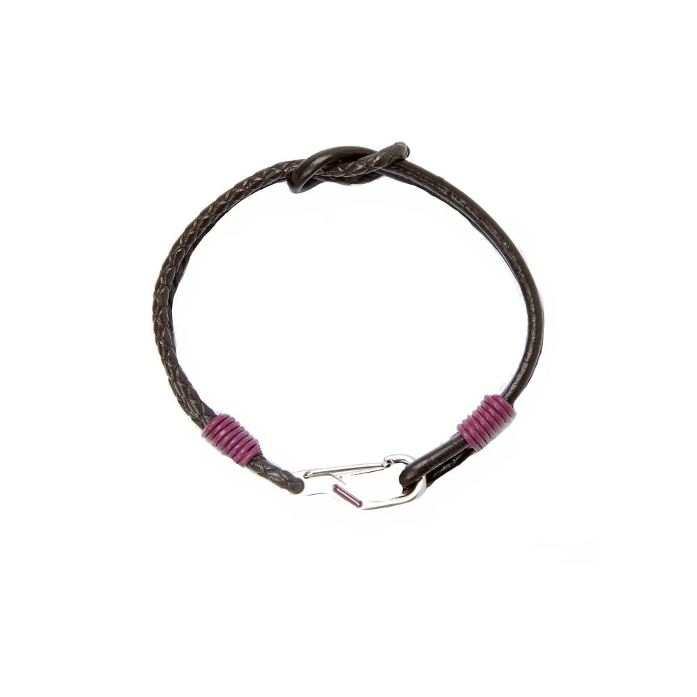 e756df9ef IVVRY Knotted Leather Bracelet Red