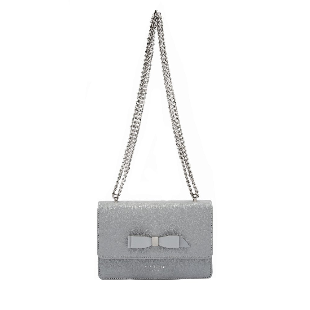 0904a2390e5 TED BAKER JAYLLAA Bow Detail Micro Cross Body Grey - Ladies from ...