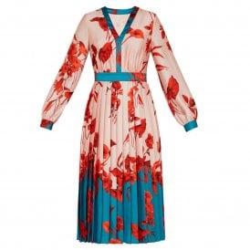 c89bbc853 Ted Baker KAROLYN Fantasia Bow Neck Midi Dress Pink