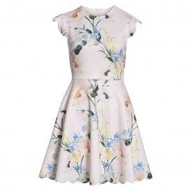 139844f63 Ted Baker KARSALI Elegance Scallop Skater Dress Pink
