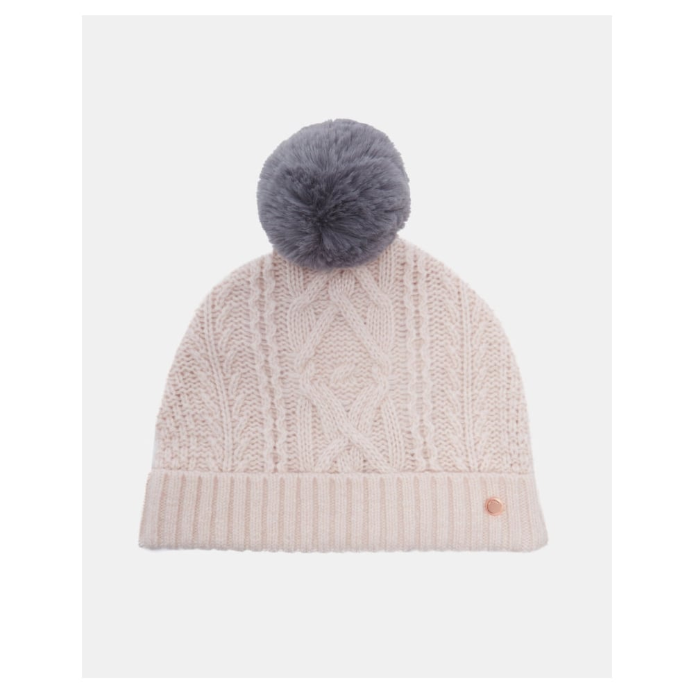 TED BAKER KYLIEE cable knit bobble hat - Ladies from Sandersons ... 8d63439522e