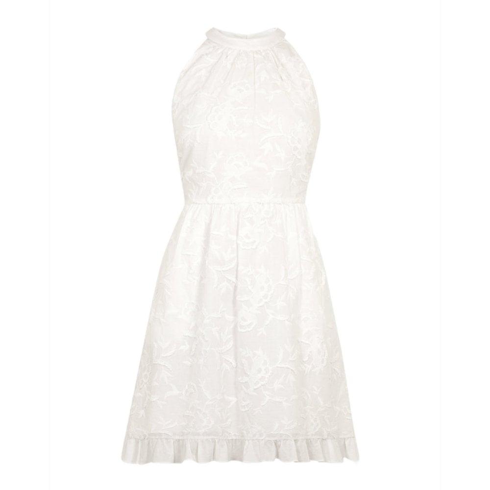 cfc9d112a0 Ted Baker LORENE Embroidered Halter Neck Skater Dress White