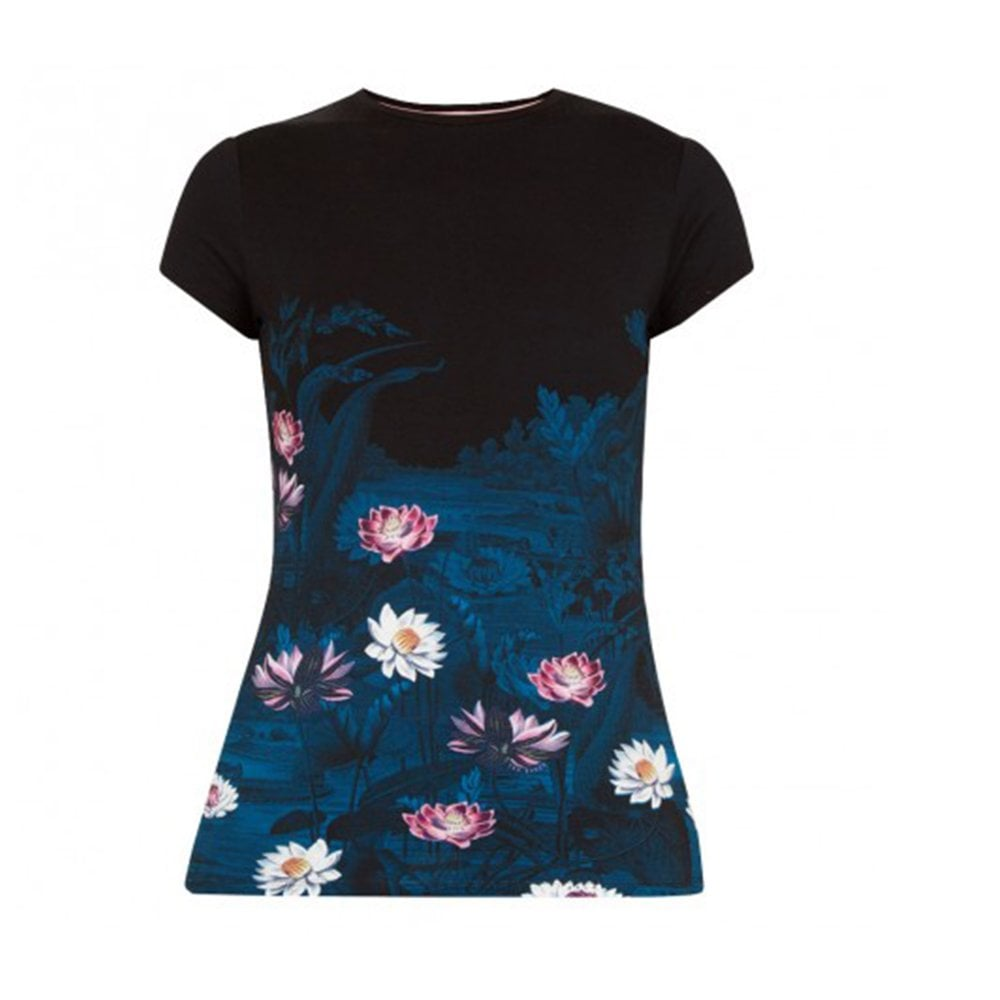 9b275a2b9 Ted Baker MILLYO Wonderland Fitted Tee Black Multi