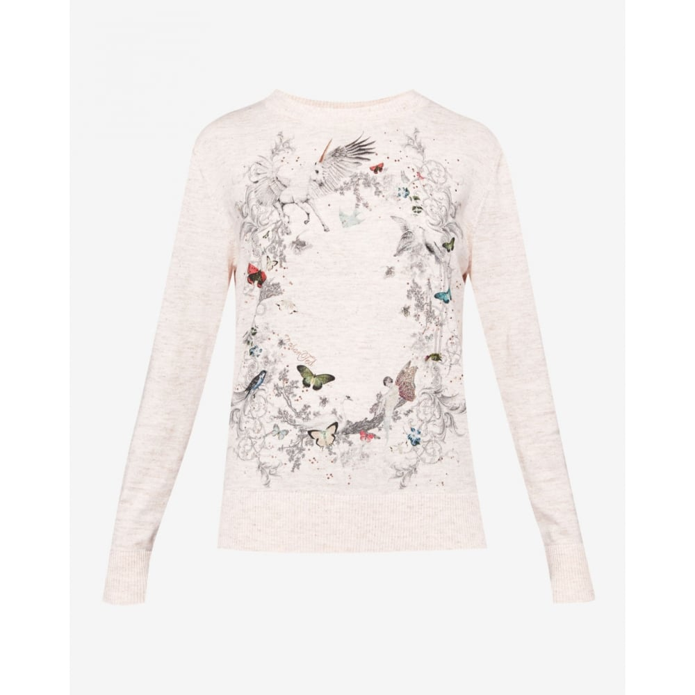 7d946a5857d TED BAKER RISOLO enchanted dream print jumper - Ladies from ...