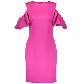 92b684acdb252 Ted Baker SALNIE Cut Out Shoulder Dress Pink SALE