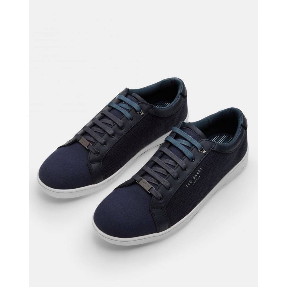 c810dd730bdd TED BAKER TERNUR TEXTILE LOW TOP TRAINERS DARK BLUE - Mens from ...