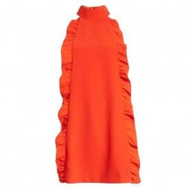 38bb4e5b5f3 Ted Baker TORRIYA Halterneck Ruffle Dress Orange