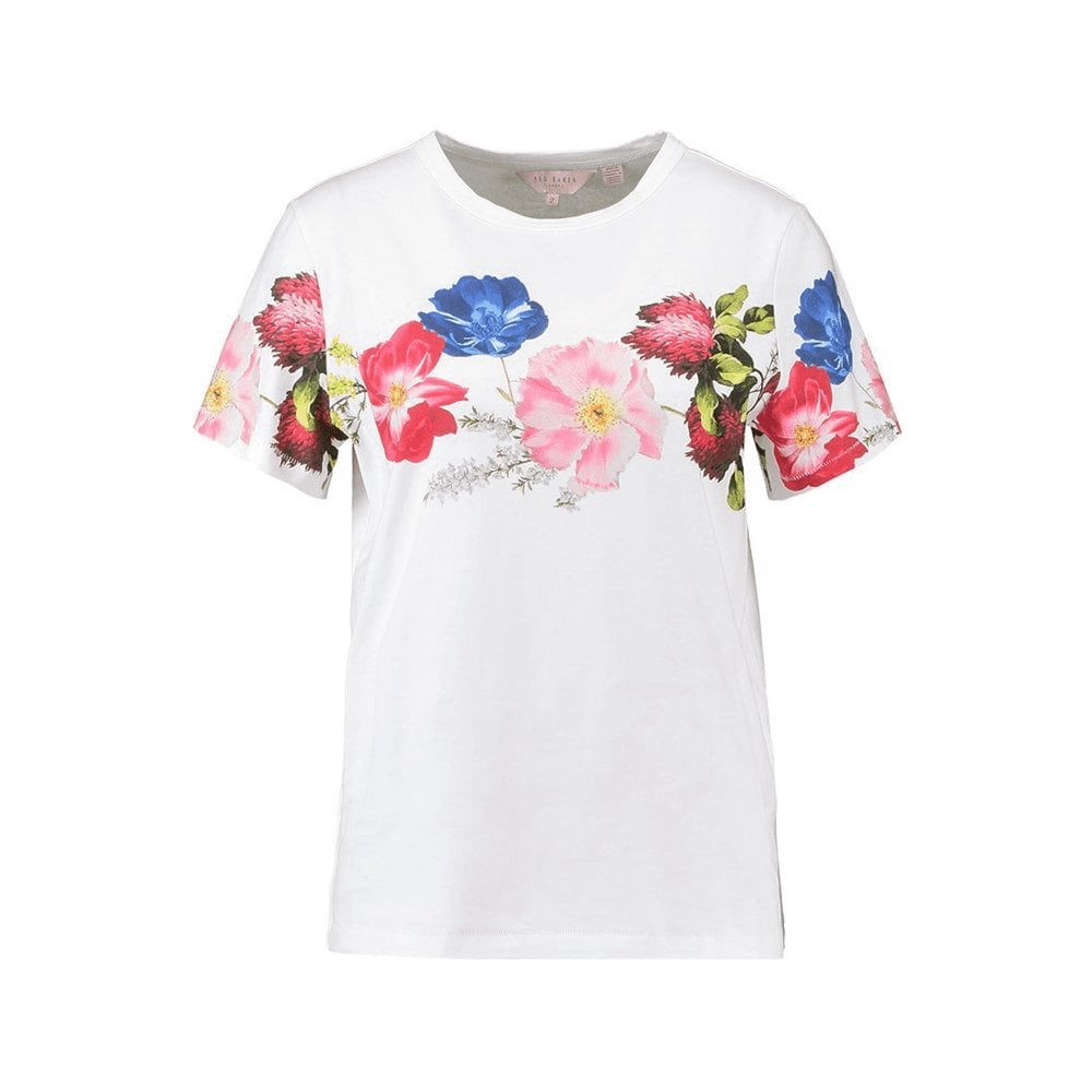 9d99ac04cfc777 Ted Baker UNIQA Berry Sundae Floral Print T-Shirt White