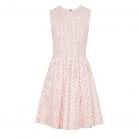 84a19181c97 Ted Baker VELLIA Knitted Flippy Skater Dress Pink