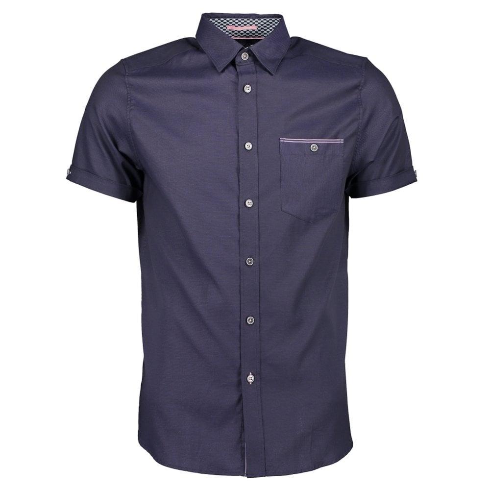 3d02018c Ted Baker WALLABI Oxford Shirt Navy