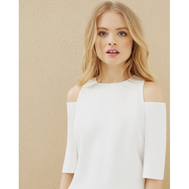 TED BAKER WMB-CAREO-WS7W-Cut out shoulder top