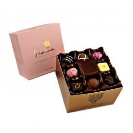 THE OBROMA COLLECTION ASSORTED HANDMADE CHOCOLATES (PINK BOX)