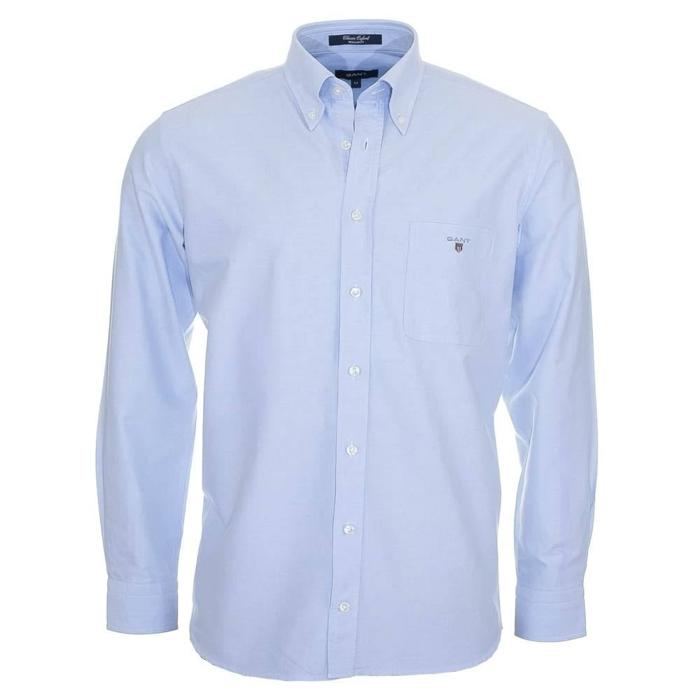 GANT The Oxford Shirt Reg BD Navy - Mens from Sandersons Boutique UK c1653fad0de9