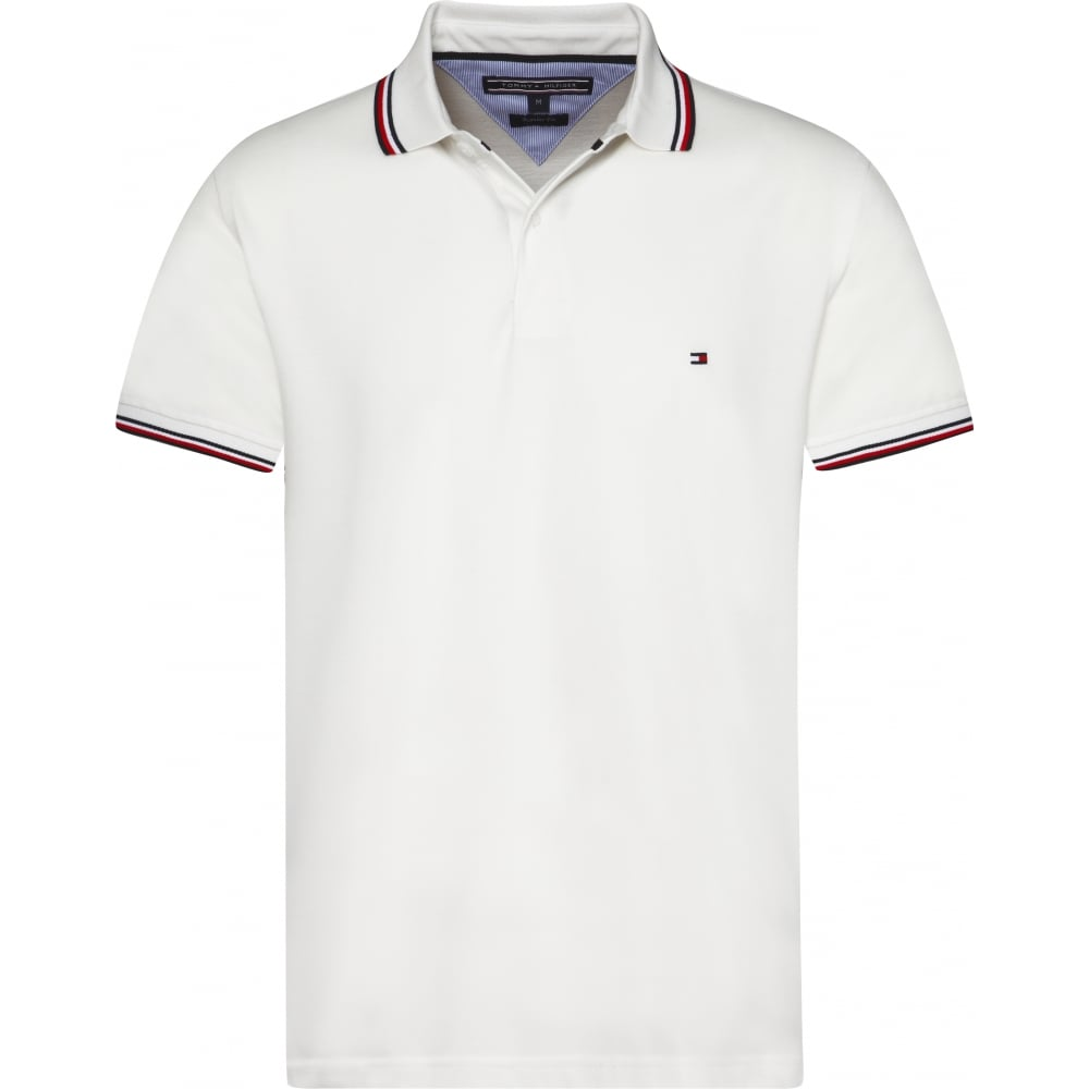 tommy hilfiger white polo shirt mens