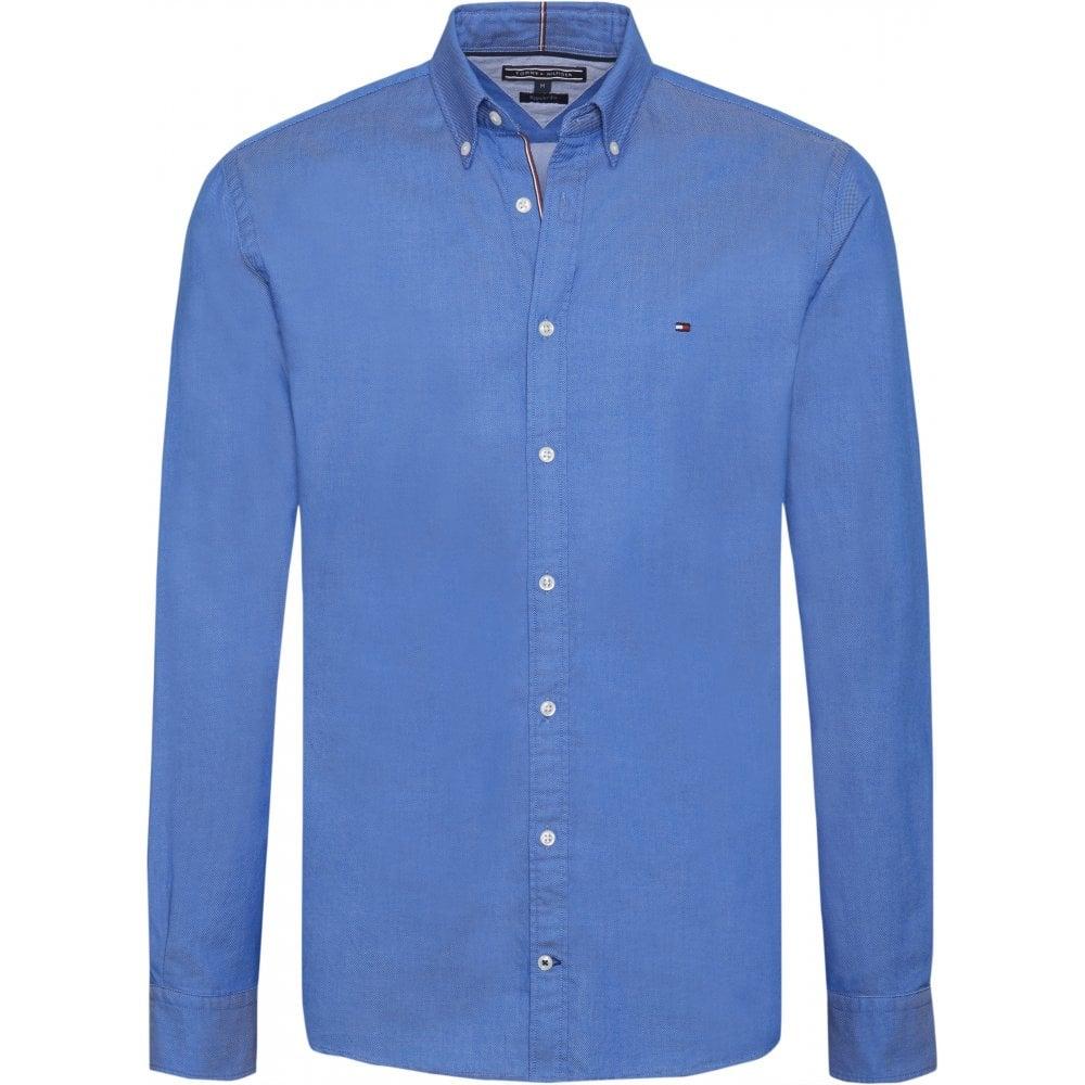 e6e179b7 Tommy Hilfiger Two Tone Dobby Shirt Blue
