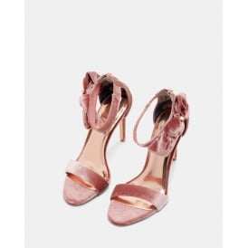 TORABEL BOW DETAIL LEATHER SANDALS DUSKY PINK