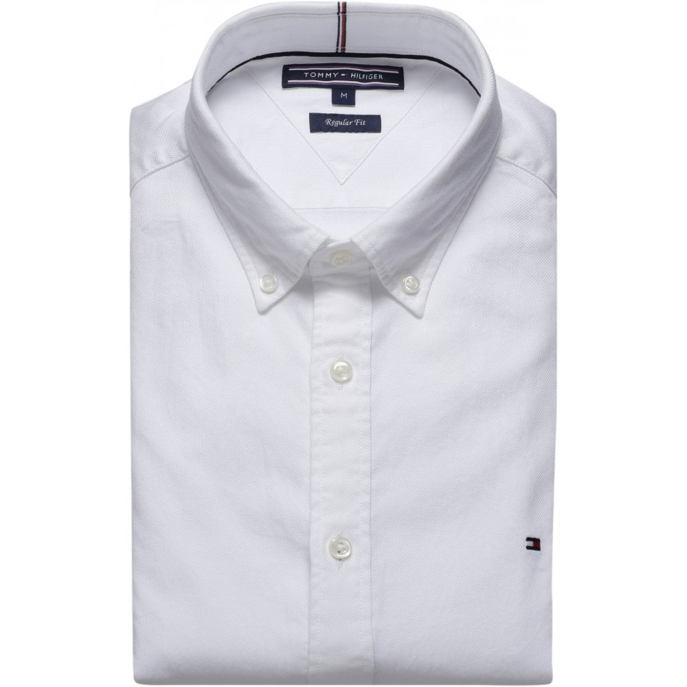 926c2f2f4 TOMMY HILFIGER Two Tone Dobby Shirt White - Mens from Sandersons ...