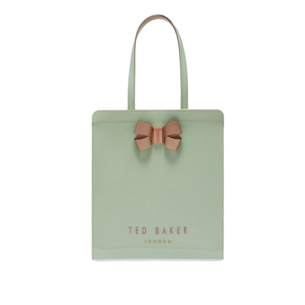 8c3f7b6393e4 TED BAKER VALLCON bow detail large icon bag Green - Ladies from ...