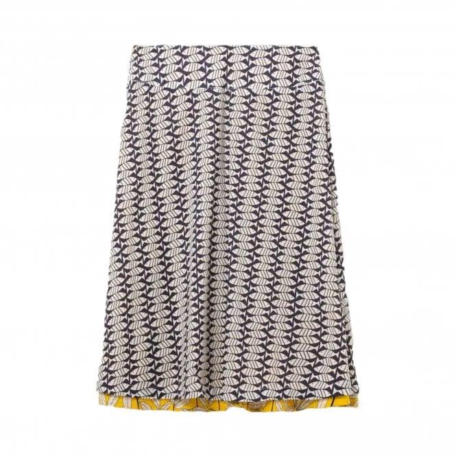 eae907236e White Stuff Namibia Print Reversible Skirt Yellow/Grey