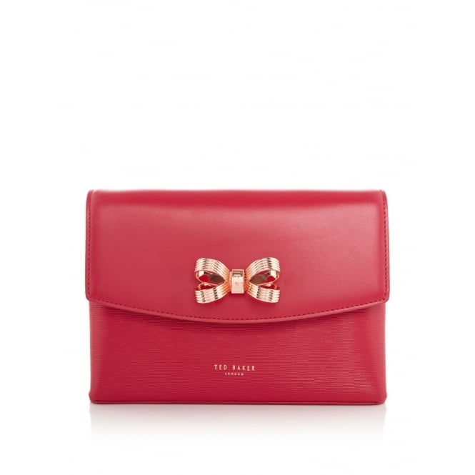 TED BAKER WXB-LEIZA-XA7W-looped bow cross body bag / WXB-LEIZA-XA7W-lo